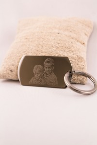 Porte Cles photogravure photo enfant