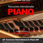 PIANO IDF: Rencontres internationales ouvertes au public, 4 au 10 mai 2014