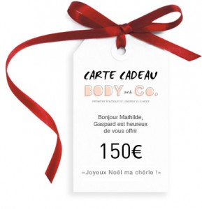 Carte cadeau Body and Co
