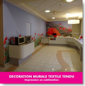 décoration murale textile tendu