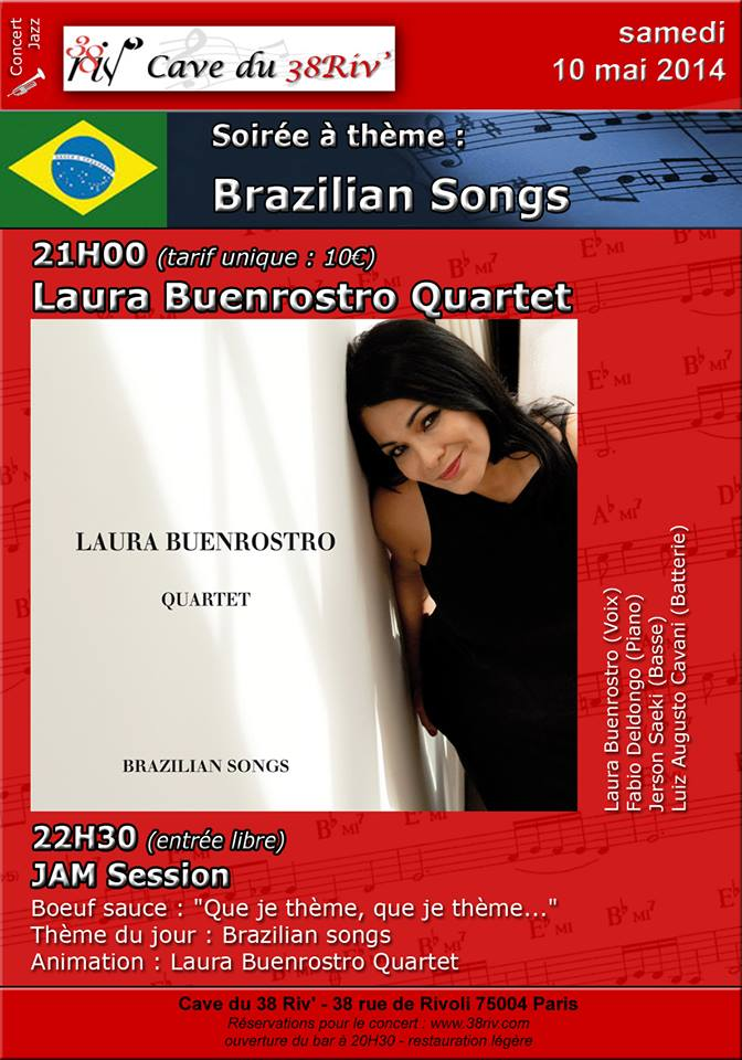 "Laura Buenrostro quartet concert pour sortie CD ""Brazilian Songs"""
