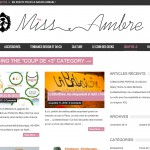 Miss Ambre : un blog dans le move