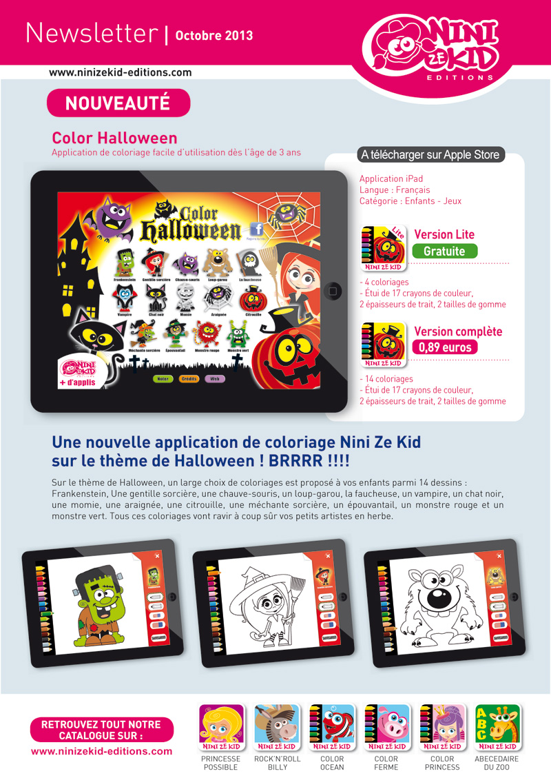 Une application coloriage pour Halloween !