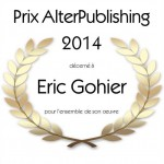 Eric Gohier - Prix AlterPublishing 2014