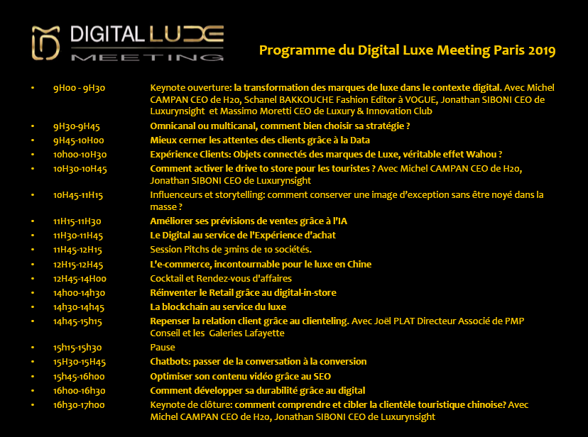 DIGITAL LUXE MEETING France 2019