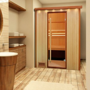 un sauna dans ma salle de bains. Black Bedroom Furniture Sets. Home Design Ideas