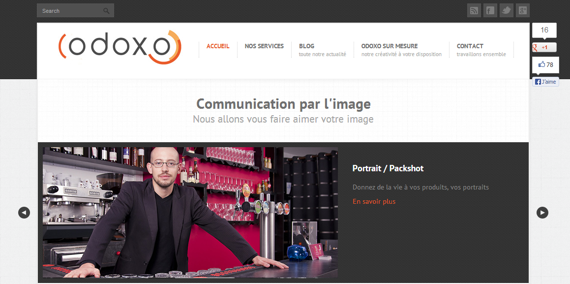 Odoxo - zoom photographie publicitaire